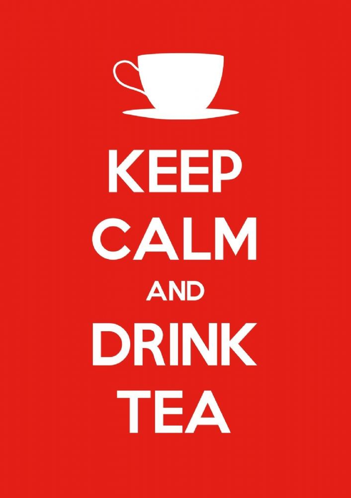 Keep Calm Amp Drink Tea Choose Your Size Stretched